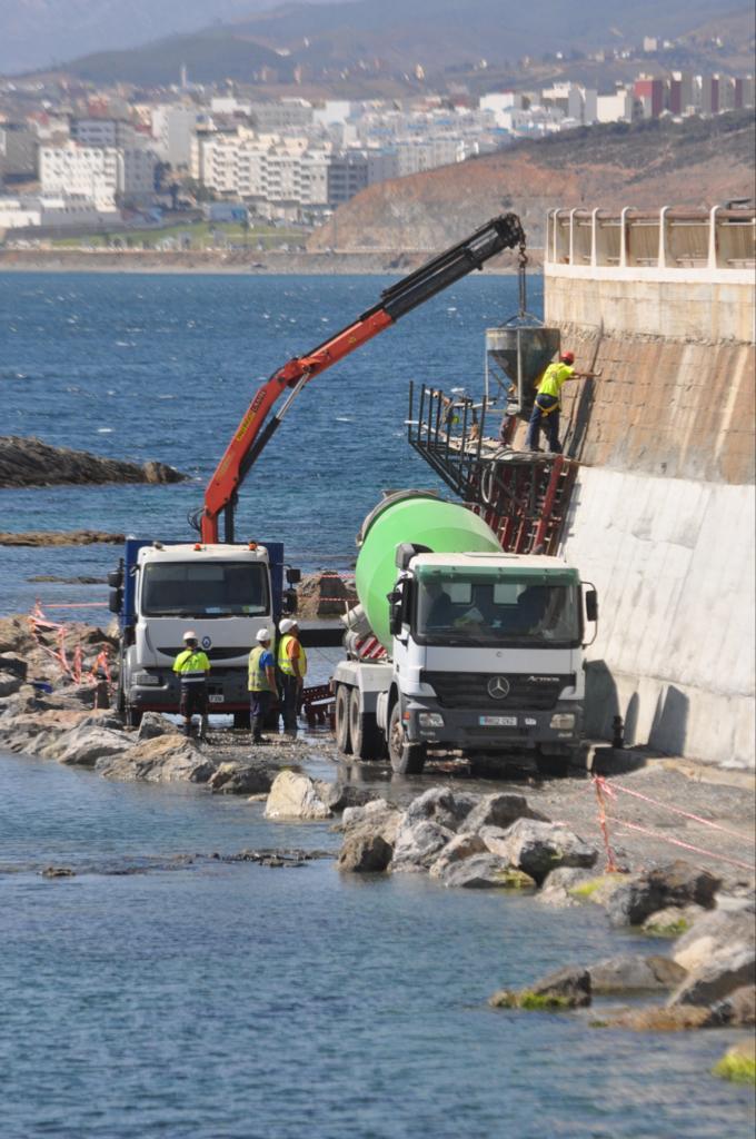 OBRA MURO CEUTA ACP Infraestructuras